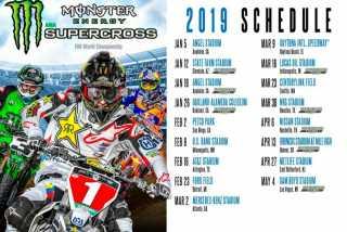 AMA Supercross: Календарь Чемпионата Мира 2019.