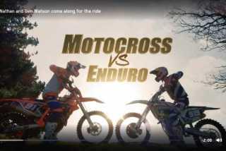 Видео: мотокросс против эндуро